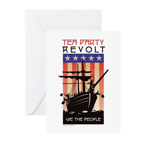 TEA PARTY REVOLT We The Peopl Greeting Cards (Pk o
