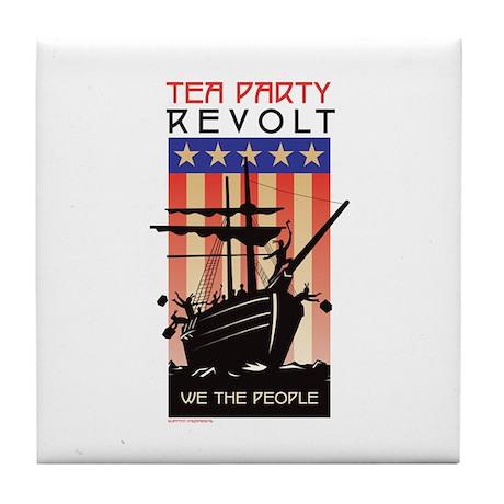 TEA PARTY REVOLT We The Peopl Tile Coaster