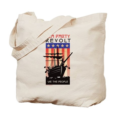 TEA PARTY REVOLT We The Peopl Tote Bag