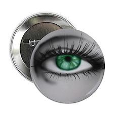 "Green Eye, 2.25"" Button"