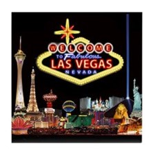 Cute Las vegas travel Tile Coaster