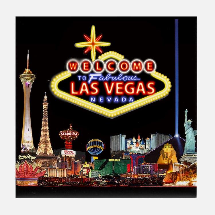 Cute Vegas Tile Coaster