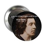Genius at Play Oscar Wilde Button
