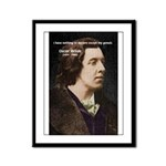 Genius at Play Oscar Wilde Framed Panel Print