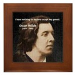 Genius at Play Oscar Wilde Framed Tile