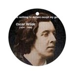 Genius at Play Oscar Wilde Ornament (Round)