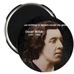 Genius at Play Oscar Wilde Magnet
