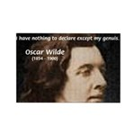 Genius at Play Oscar Wilde Rectangle Magnet (100 p