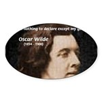 Genius at Play Oscar Wilde Oval Sticker