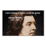 Genius at Play Oscar Wilde Rectangle Sticker