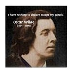 Genius at Play Oscar Wilde Tile Coaster