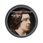 Genius at Play Oscar Wilde Wall Clock