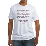 Second Amendment Fitted T-Shirt