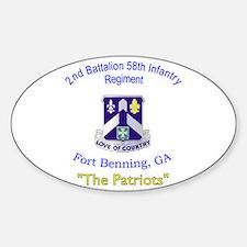 2nd Bn 58th Inf Reg Sticker (Oval)