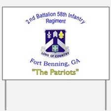 2nd Bn 58th Inf Reg Yard Sign