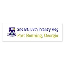 2nd Bn 58th Inf Reg Bumper Sticker