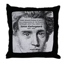 Irony Freedom of Speech Throw Pillow