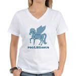 Peglegasus Women's V-Neck T-Shirt