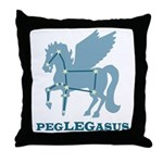 Peglegasus Throw Pillow