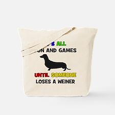 Fun & Games - Weiner Tote Bag
