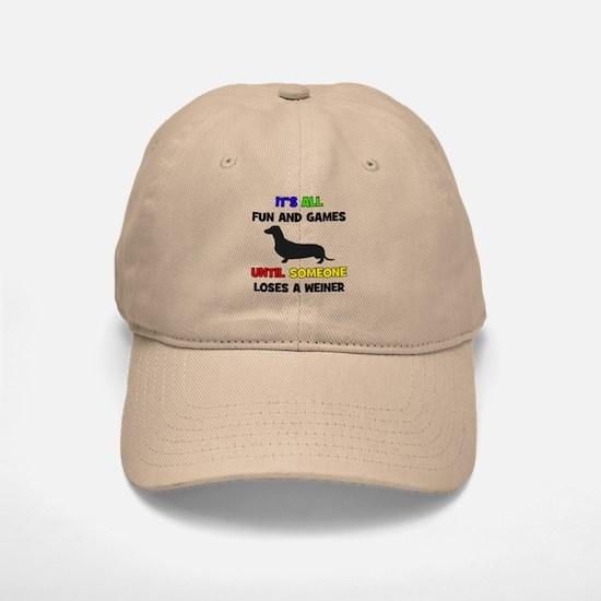 Fun & Games - Weiner Baseball Baseball Cap