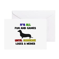 Fun & Games - Weiner Greeting Card