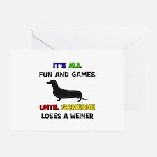 Fun & Games - Weiner Greeting Card