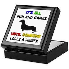 Fun & Games - Weiner Keepsake Box