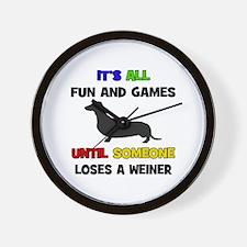 Fun & Games - Weiner Wall Clock