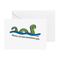 Damn, no sea monsters Greeting Card