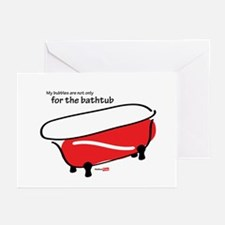 Bubbles in the tub Greeting Cards (Pk of 10)