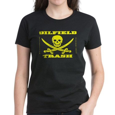 Oil Field Trash,Skull,Bones Women's Dark T-Shirt