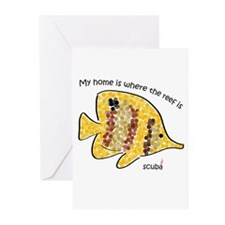Bubble fish Greeting Cards (Pk of 10)