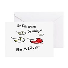 Be unique - Be a diver Greeting Card