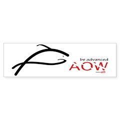 AOW be advanced Bumper Sticker