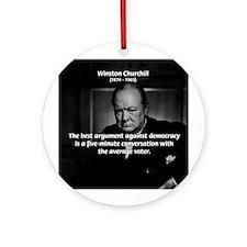 Political Comedy Churchill Ornament (Round)
