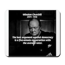 Political Comedy Churchill Mousepad