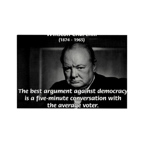 Political Comedy Churchill Rectangle Magnet