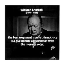 Political Comedy Churchill Tile Coaster