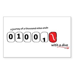 1000 miles ends with a dive Decal