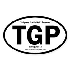 Tallgrass Prairie Oval Decal