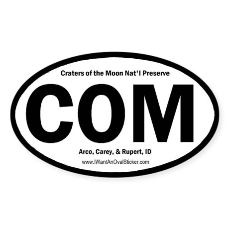 Craters of the Moon Oval Sticker