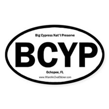 Big Cypress Oval Decal