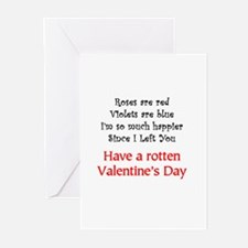 Rotten Valentine's Day Greeting Cards (Package of