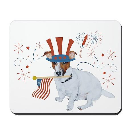 JRT with USA Flag Mousepad