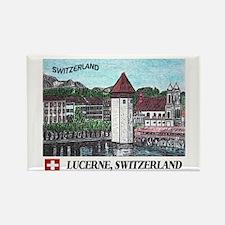 Lucerne Switzerland Rectangle Magnet (100 pack)