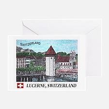Lucerne Switzerland Greeting Card