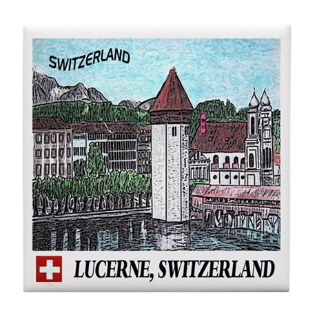 Lucerne Switzerland Tile Coaster