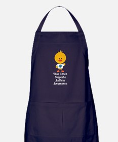 Autism Awareness Chick Apron (dark)