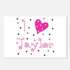 Postcards (Package of 8) ~ I (Heart) Taylor